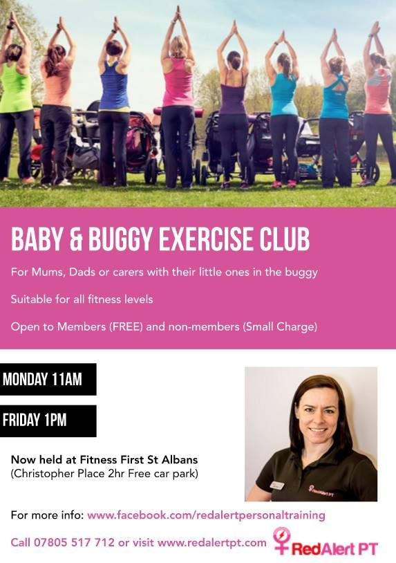 St Albans Baby and Buggy Exercise Club moves indoors for Autumn / Winter.